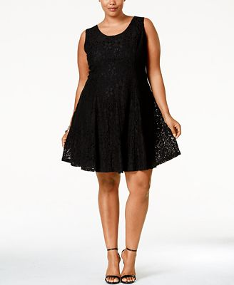 American Rag Plus Size Lace Fit Flare Dress Created For Macys