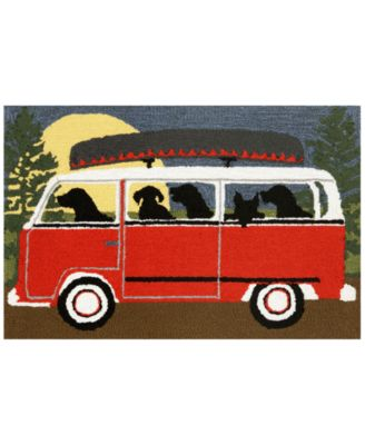 Liora Manne Front Porch Indoor/Outdoor Camping Trip Red 2' x 3' Area Rug
