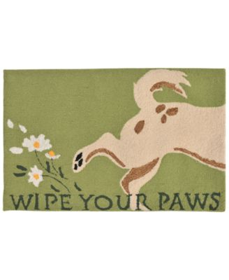 Liora Manne Front Porch Indoor/Outdoor Wipe Your Paws Green 2' x 3' Area Rug