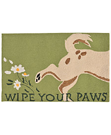 Liora Manne Front Porch Indoor/Outdoor Wipe Your Paws Green Area Rug