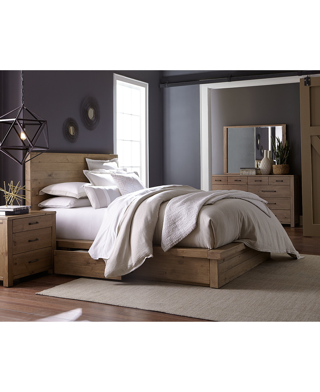 Macys Furniture Bedroom Abilene Solid Pine Storage Bedroom Furniture Collection Only At