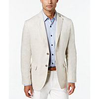 Tasso Elba Mens Linen 2-Button Blazer (Multi Colors)