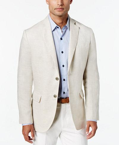 Tasso Elba Men's Linen 2-Button Blazer, Created for Macy's - Men ...