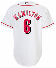MajesticBilly Hamilton Cincinnati Reds Replica Jersey, Big Boys (8-20)