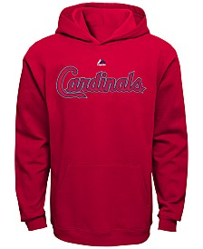Majestic Kids' St. Louis Cardinals Wordmark Fleece Hoodie, Big Boys (8-20)