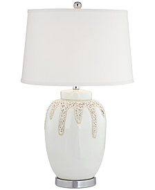 CLOSEOUT! kathy ireland home by Pacific Coast Volcanic Glaze White Hot Lava Table Lamp