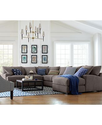 Rhyder Fabric Sectional Collection Created for Macys Furniture