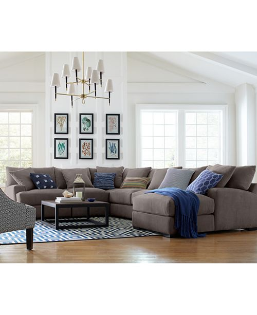 Tremendous Rhyder 4 Pc 112 Fabric Sectional Sofa With Chaise Created For Macys Creativecarmelina Interior Chair Design Creativecarmelinacom