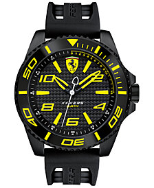 Scuderia Ferrari Men's XX Kers Black Silicone Strap Watch 50mm 830307