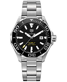 Men's Swiss Automatic Aquaracer Calibre 5 Stainless Steel Bracelet Watch 43mm