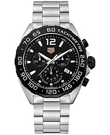 Men's Swiss Chronograph Formula 1 Stainless Steel Bracelet Watch 43mm