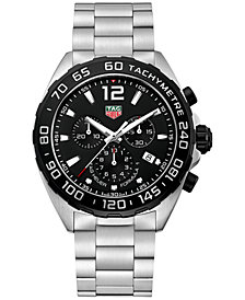 TAG Heuer Men's Swiss Chronograph Formula 1 Stainless Steel Bracelet Watch 43mm CAZ1010.BA0842