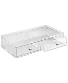 2-Drawer Makeup Organizer, Clear