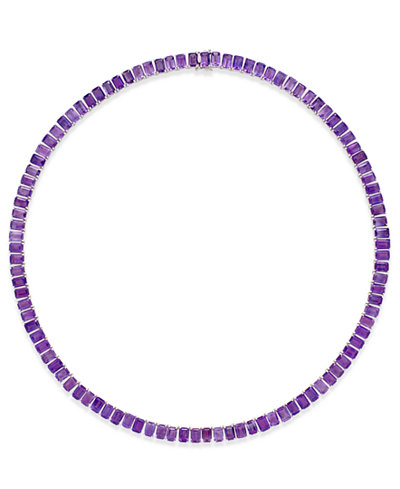 Amethyst Collar Necklace (61 ct. t.w.) in Sterling Silver