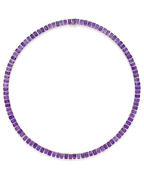 Macy's Amethyst Collar Necklace (61 ct. t.w.) in Sterling Silver