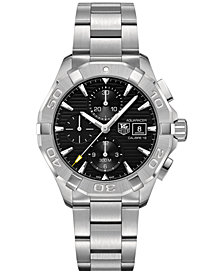 TAG Heuer Men's Swiss Chronograph Aquaracer Calibre 16 Stainless Steel Bracelet Watch 43mm CAY2110.BA0927