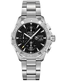 TAG Heuer Men's Swiss Chronograph Aquaracer Calibre 16 Stainless Steel Bracelet Watch 43mm