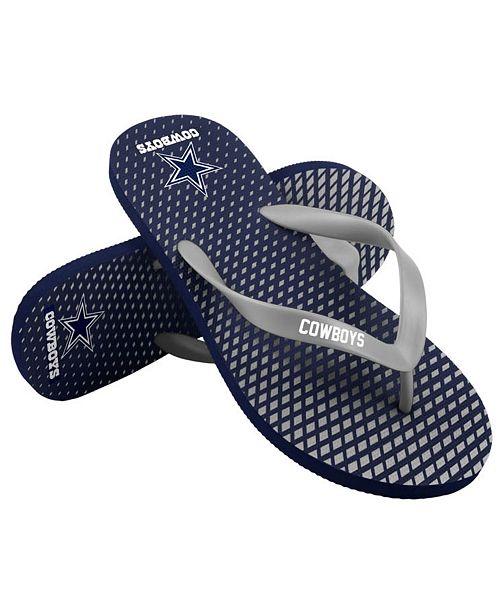 Forever Collectibles Dallas Cowboys High End Flip Flops