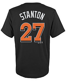 MajesticGiancarlo Stanton Miami Marlins Player T-Shirt, Big Boys (8-20)