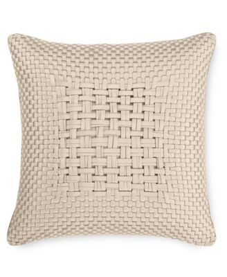 "CLOSEOUT! Dimensions Champagne 20"" Square Decorative Pillow, Created for Macy's"