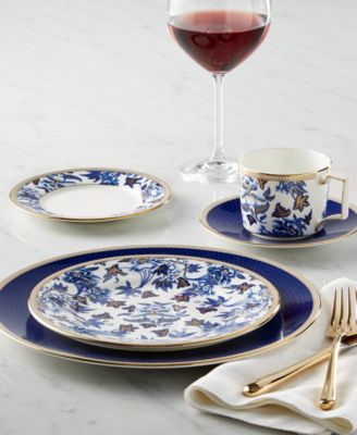 This item is part of the Wedgwood Blue Hibiscus Collection & Wedgwood Hibiscus 5-Pc. Place Setting - Fine China - Macyu0027s