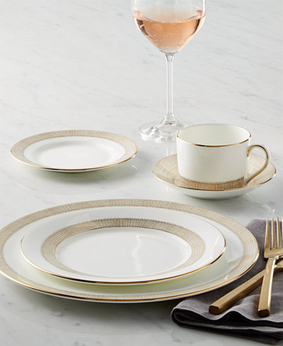 Vera Wang Wedgwood Gilded Weave Gold Dinnerware Collection