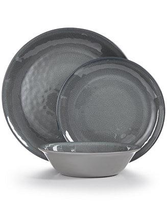 Home Design Studio Smoke Melamine Dinnerware Collection