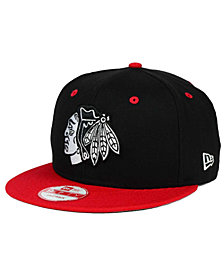 New Era Chicago Blackhawks Black White Team Color 9FIFTY Snapback Cap