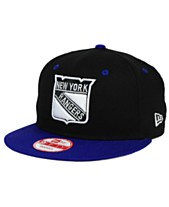 cd2f4925133fe New Era New York Rangers Black White Team Color 9FIFTY Snapback Cap