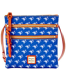 Dooney & Bourke Toronto Blue Jays Triple Zip Crossbody Bag