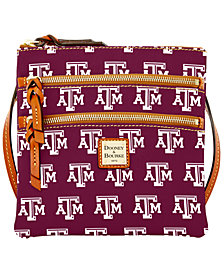 Dooney & Bourke Texas A&M Aggies Triple Zip Crossbody Bag