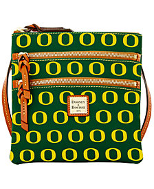 Dooney & Bourke Oregon Ducks Triple Zip Crossbody Bag
