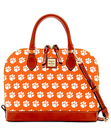 Dooney & Bourke Clemson Tigers Zip Zip Satchel