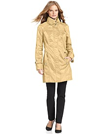 Hooded Packable Stand-Collar Wrinkle-Resistant Anorak