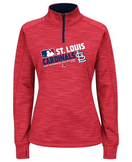 Home Decor Liquidators St Louis: Majestic Women's St. Louis Cardinals AC Quarter-Zip
