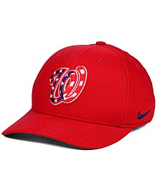 Washington Nationals Ligature Swoosh Flex Cap