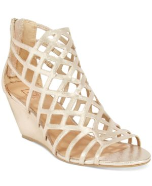 Material Girl Henie Caged Demi Wedge Sandals, Created for Macy