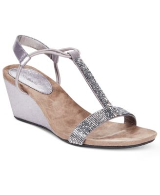 Image of Style & Co Mulan 2 Embellished Evening Wedge Sandals, Only at Macy's