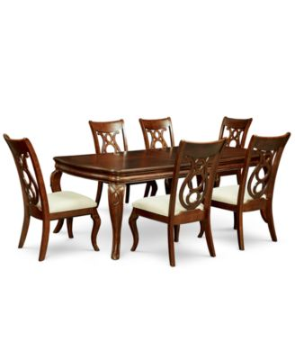 Bordeaux 7 Pc Dining Room Set Table 6 Side Chairs