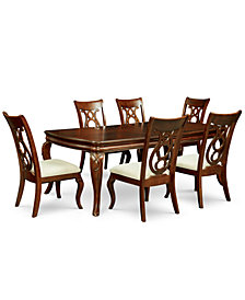 Bordeaux 7-Pc. Dining Room Set (Dining Table & 6 Side Chairs)