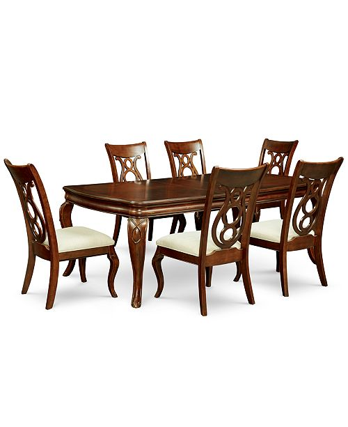 Furniture Bordeaux 7-Pc. Dining Room Set (Dining Table & 6 Side Chairs)