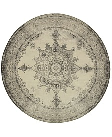 Oriental Weavers Richmond Medallion Ivory/Grey 7'10'' Round Rug