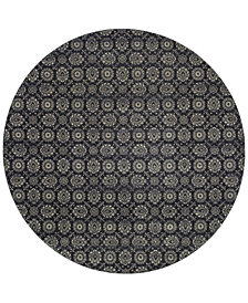 "Oriental Weavers Richmond Meridian Navy/Grey 7'10"" Round Rug"