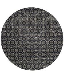 "Oriental Weavers Richmond Meridian Navy/Grey 7'10"" Round Rug"