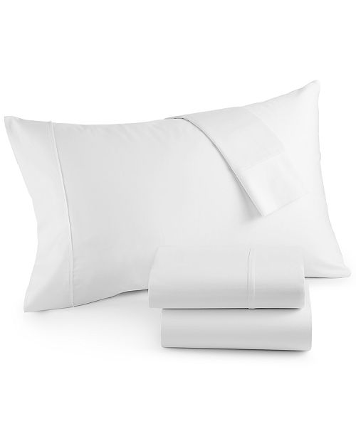 Westport Solid Organic 4-Pc. Queen Sheet Set, 500 Thread Count GOTS Certified Cotton