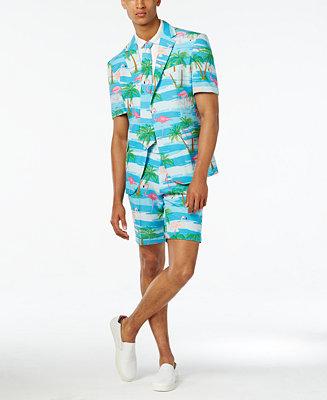 Opposuits Men S Flaminguy Slim Fit Tropical Print Suit