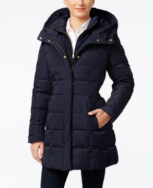 SIGNATURE PLUS SIZE LAYERED DOWN PUFFER COAT