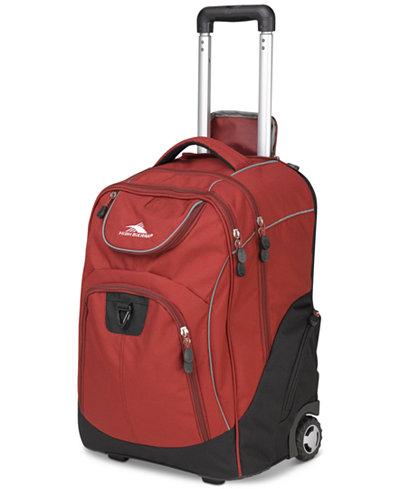 High Sierra Glide Rolling Backpack In Brick
