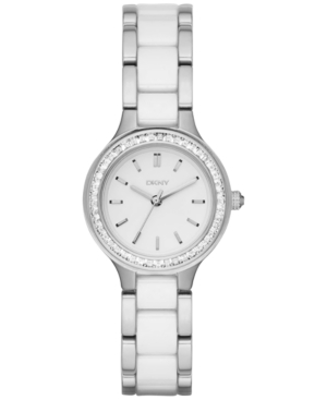Dkny Women's Chambers Two-Tone Stainless Steel and Ceramic Bracelet Watch 28mm NY2494