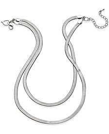 Herringbone Double Chain Necklace, Created for Macy's